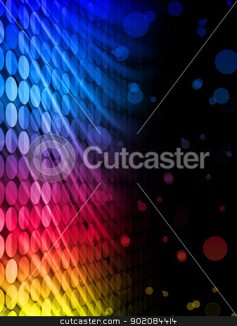 Disco Abstract Colorful Waves on Black Background stock vector clipart, Vector - Disco Abstract Colorful Waves on Black Background by Augusto Cabral Graphiste Rennes
