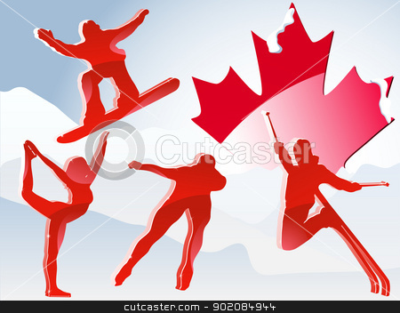 Canada Vancouver Winter Games 2010. stock vector clipart, Canada Vancouver Winter Games 2010. Editable Vector Illustration by Augusto Cabral Graphiste Rennes