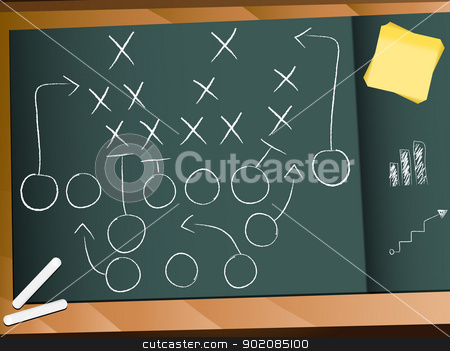 Teamwork Football Game Plan Strategy stock vector clipart, Vector - Teamwork Football Game Plan Strategy by Augusto Cabral Graphiste Rennes
