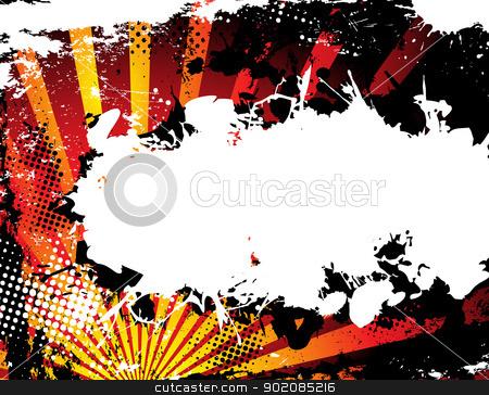 Abstract Grunge Halftone Background in orange. stock vector clipart, Abstract Grunge Halftone Background in orange. Vector Image. by Augusto Cabral Graphiste Rennes