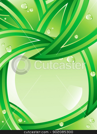 Tropical Leaves Ecology Background. stock vector clipart, Tropical Leaves Ecology Background. Editable Vector Image by Augusto Cabral Graphiste Rennes