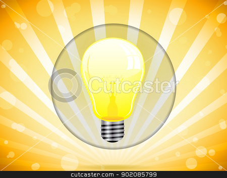 Light Bulb on Colorful Background stock vector clipart, Vector - Light Bulb on Colorful Background by Augusto Cabral Graphiste Rennes