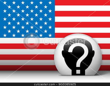 United States Election Vote Button. stock vector clipart, Vector - United States Election Vote Button. by Augusto Cabral Graphiste Rennes