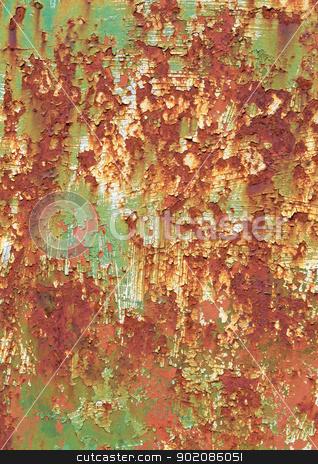 Rusty metal surface peeling paint texture background. stock photo, Rusty metal surface peeling paint texture background. by Stephen Rees