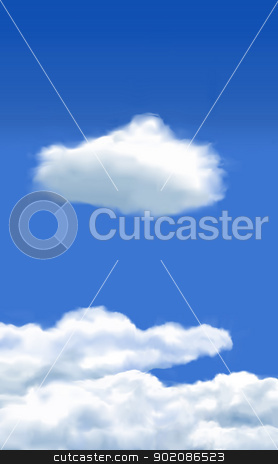 Clouds stock vector clipart, Vector - Created using Illustrator mesh tool - Resolution independent by Fenton