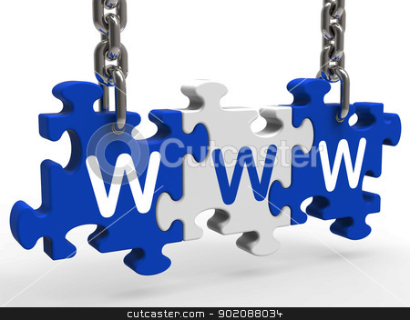 Www Puzzle Shows Online Websites Or Internet stock photo, Www Puzzle Showing Online Websites Internet or Web by stuartmiles