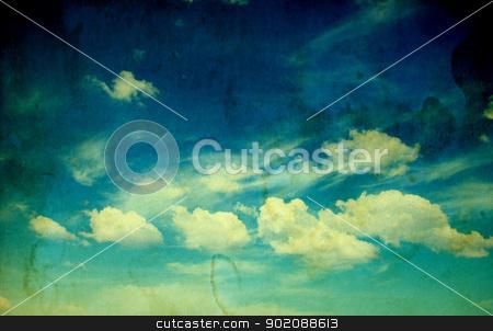 retro cloudy sky stock photo, retro image of cloudy sky by Vitaliy Pakhnyushchyy