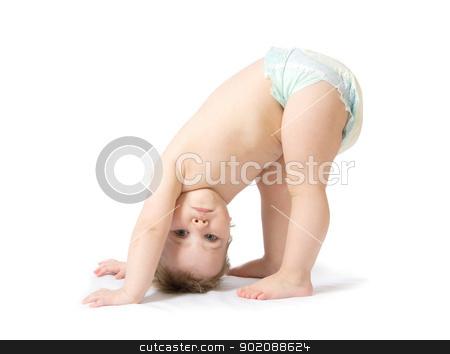 baby girl   stock photo, cute baby girl  isolated on white by Vitaliy Pakhnyushchyy