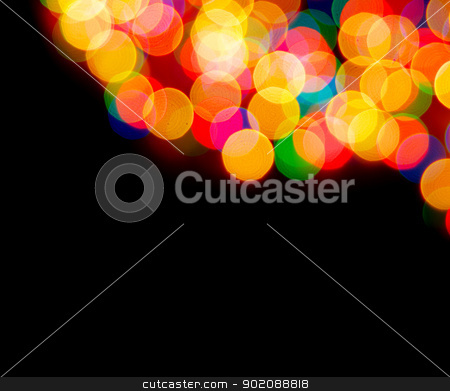 christmas lights  stock photo, Abstract christmas lights as background on black by Vitaliy Pakhnyushchyy