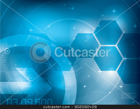 technology background stock vector clipart, abstract background technology in vector illustration created by Aurelio Scetta