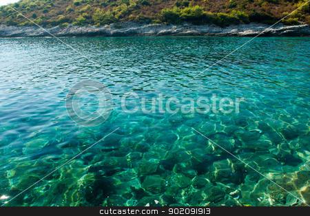 beautiful rocky beach in croatia stock photo, beautiful rocky beach in croatia by Jozsef Demeter