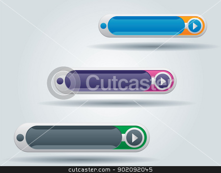 web buttons stock vector clipart, interface buttons for websites in vector illustration by Aurelio Scetta