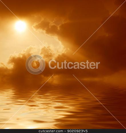 sunset over sea stock photo, Fantastic sunset over the sea                                by Vitaliy Pakhnyushchyy