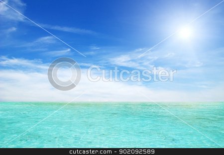 Thailand sea and perfect sky stock photo, Thailand sea and perfect sky by Vitaliy Pakhnyushchyy