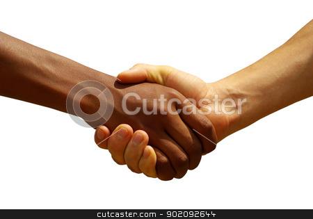 handshake stock photo, Two young businessmen shaking hands by Vitaliy Pakhnyushchyy