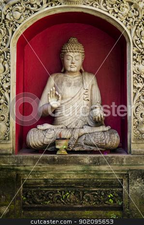 buddha statue in bali indonesia stock photo, buddha statue in bali indonesia temple by travelphotography