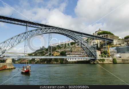 dom luis bridge in porto portugal stock photo, dom luis bridge in porto portugal by travelphotography
