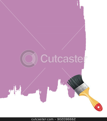 Paint brush with splash stock vector clipart, Vector illustration of Paint brush with splash by SonneOn