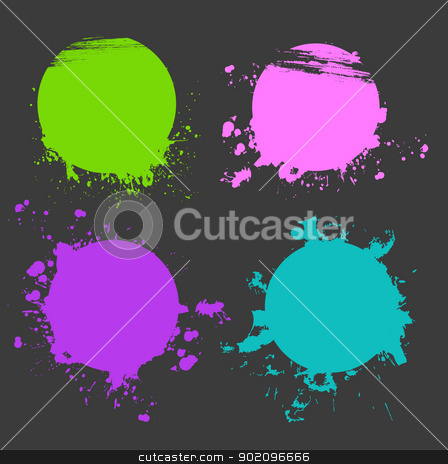 Set of color splash stock vector clipart, Vector illustration of Set of color splash by SonneOn