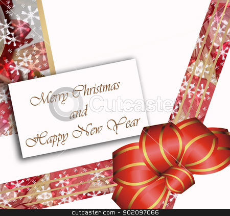 card  Merry Christmas and happy new year stock photo, card  Merry Christmas and happy new year on red tones by graciela rossi