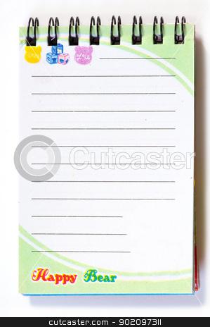 spiral notepad stock photo, blank spiral notepad isolated on white by Vitaliy Pakhnyushchyy