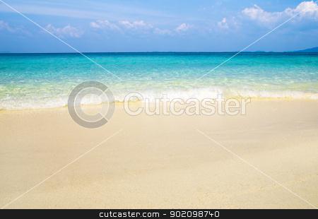 beautiful beach stock photo, beautiful beach and tropical sea by Vitaliy Pakhnyushchyy