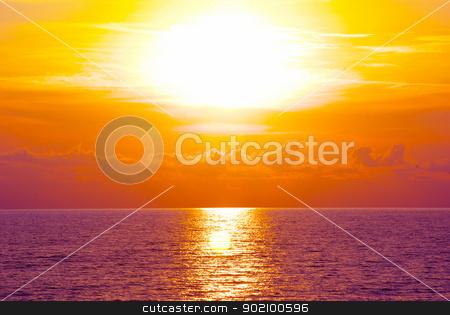 sea   stock photo, Fantastic sunset over the sea   by Vitaliy Pakhnyushchyy