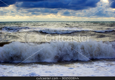 sea            stock photo, Fantastic sunset over the sea            by Vitaliy Pakhnyushchyy