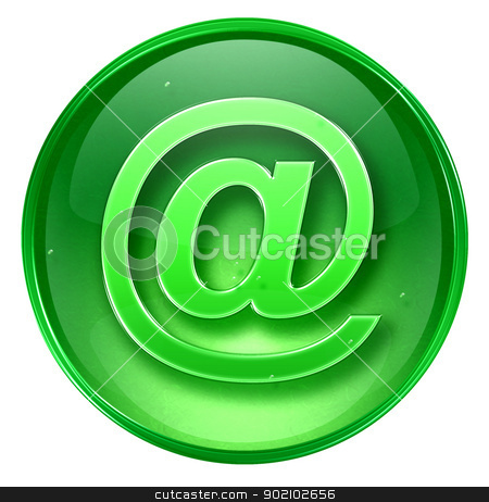 mail icon green, isolated on white background.  stock photo, mail icon green, isolated on white background.  by Andrey Zyk