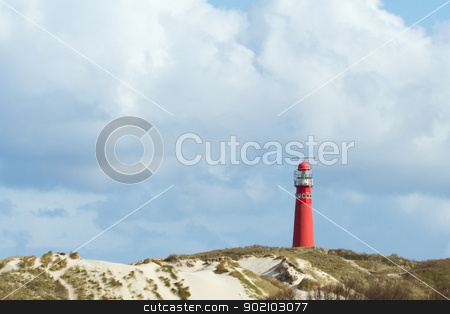 Old lighthouse on Schiermonnikoog (Holland) stock photo, The old lighthouse on the dutch isle Schiermonnikoog by michaklootwijk