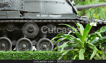 M48 Patton tank in a museum in Saigon (Vietnam) stock photo, Old M48 Patton tank on display in a museum in Saigon (Vietnam) by michaklootwijk
