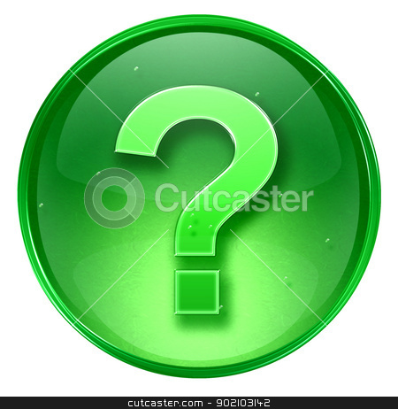 question symbol icon green, isolated on white background.  stock photo, question symbol icon green, isolated on white background.  by Andrey Zyk