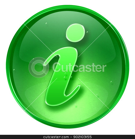 Information icon green, isolated on white background.  stock photo, Information icon green, isolated on white background.  by Andrey Zyk