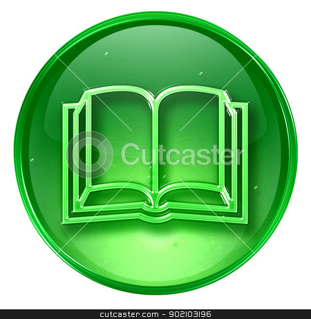 book icon green, isolated on white background. stock photo, book icon green, isolated on white background. by Andrey Zyk