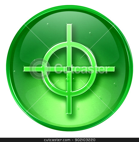 target icon green, isolated on white background. stock photo, target icon green, isolated on white background. by Andrey Zyk