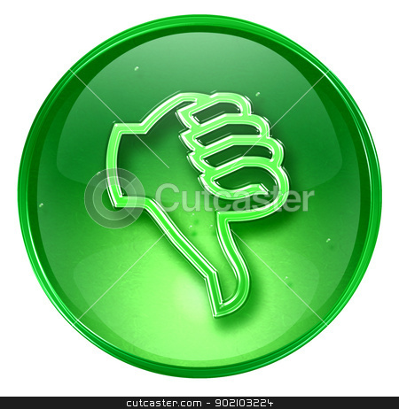 thumb down icon green, isolated on white background. stock photo, thumb down icon green, isolated on white background. by Andrey Zyk