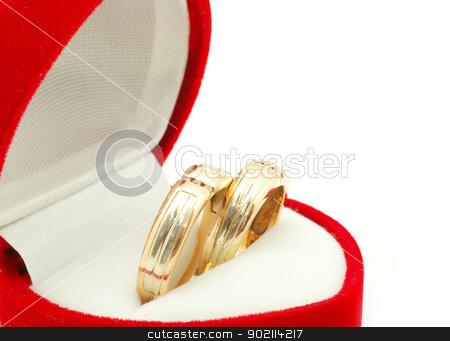wedding rings stock photo, wedding ring on white background by Vitaliy Pakhnyushchyy