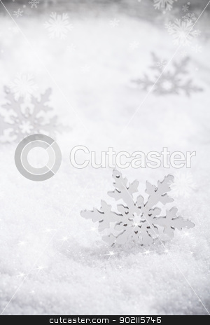 Winter background stock photo, Winter background with artificial snowflake  by Grafvision