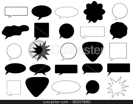 Speech bubbles  stock vector clipart, Set of speech bubble illustrated on white background by Iliuta