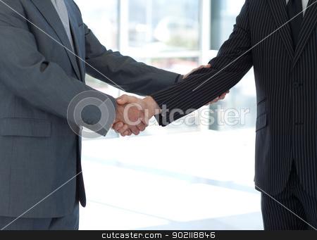 Handshake in agreement stock photo, Handshake in agreement in business by Wavebreak Media