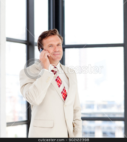 Senior businessman on phone stock photo, Senior businessman talking on phone by Wavebreak Media