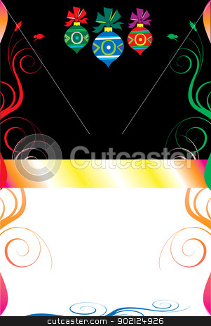 Christmas Background 8 stock photo, Vector Illustration of a Christmas Abstract Background. by Basheera Hassanali