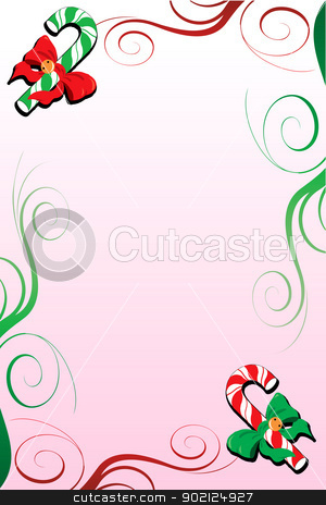 Christmas Background 7 stock photo, Vector Illustration of a Christmas Background with candy canes. by Basheera Hassanali