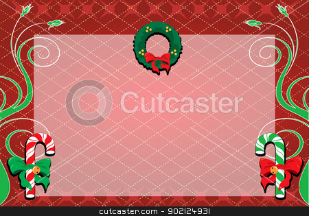 Christmas Background 1 stock photo, Vector Illustration of a decorative Christmas Background. Christmas Background 1 by Basheera Hassanali