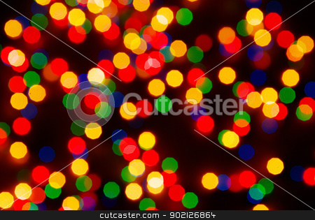 christmas background  stock photo, Abstract christmas lights as background on black by Vitaliy Pakhnyushchyy
