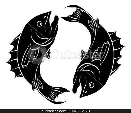 Stylised fish illustration stock vector clipart, An illustration of stylised fish forming a circle perhaps a fish tattoo by Christos Georghiou