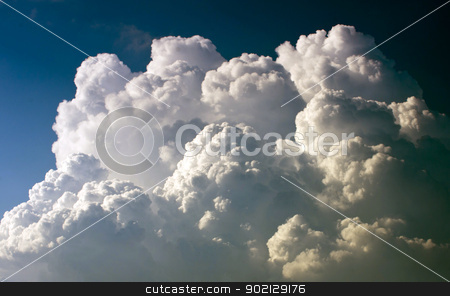clouds stock photo, blue sky background with tiny clouds by Vitaliy Pakhnyushchyy