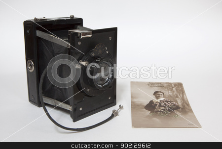 Antique stock photo, An antique old camera with an old picture by Mola Kaliva