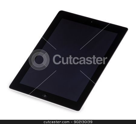 tablet computer  stock photo, Touch screen tablet computer with blank screen Isolated on white by Vitaliy Pakhnyushchyy