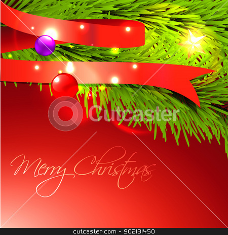 merry christmas design stock vector clipart, beautiful merry christmas design background with space for your text by pinnacleanimates
